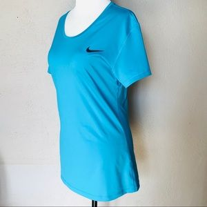 Nike Shirt Blue XL Pro Dry-Fit Athletic Top